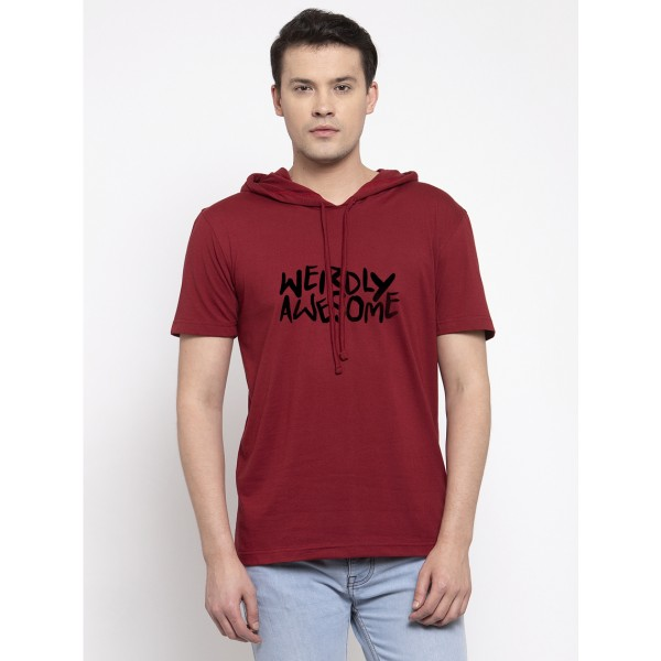 Weirdly  Awesome Half Sleeves Hoody T-shirt