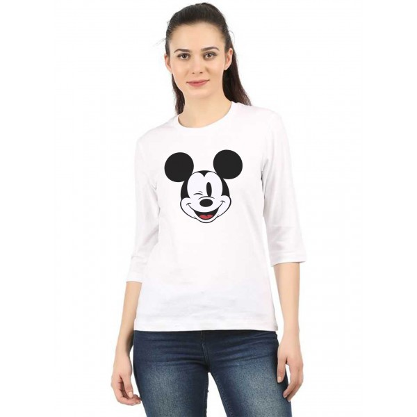 Micky mouse White Round neck...