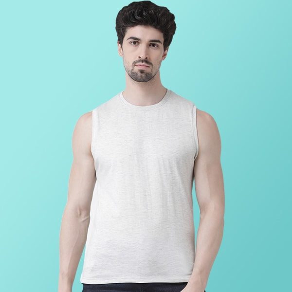 Grey Sleeveless T-shirt