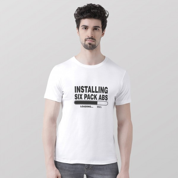Installing Six pack ABS Round neck Tshirt