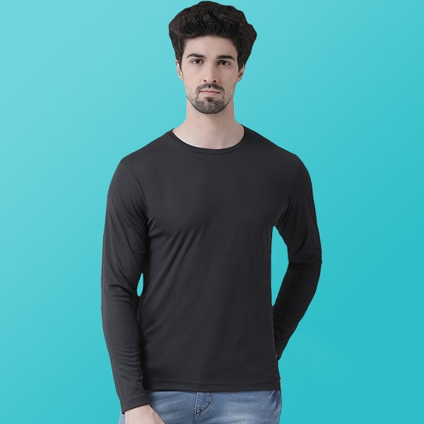 Black Dry fit Full sleeve T-...