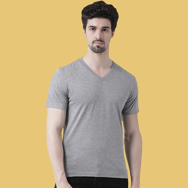 Grey V-Neck T-shirt
