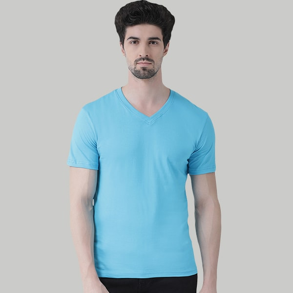 Turquiose V-Neck T-shirt