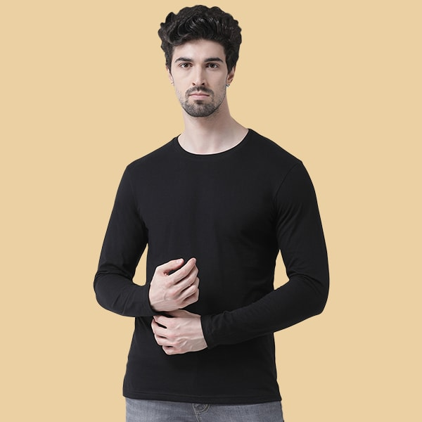 Black Round neck Full Sleeve...