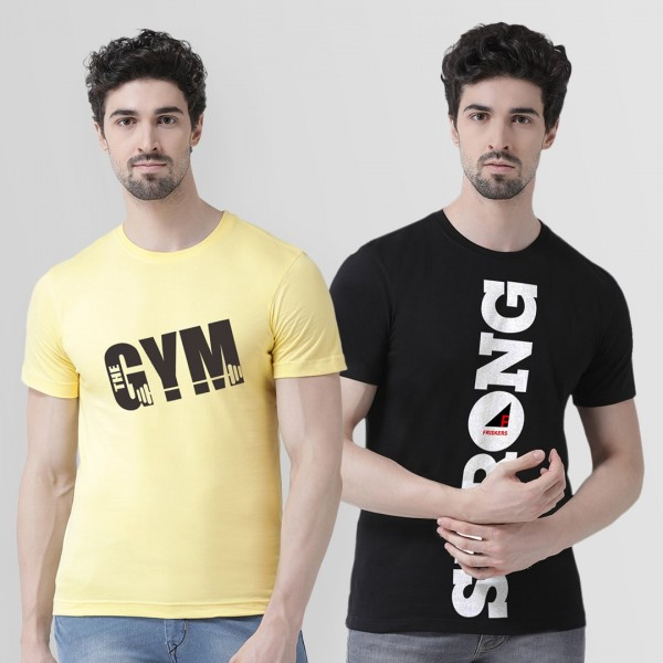 Strong and Gym Round neck Ts...