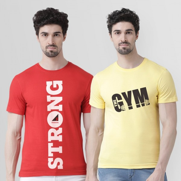 Gym and Strong Round neck Ts...