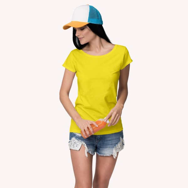 Yellow Round neck Tshirt