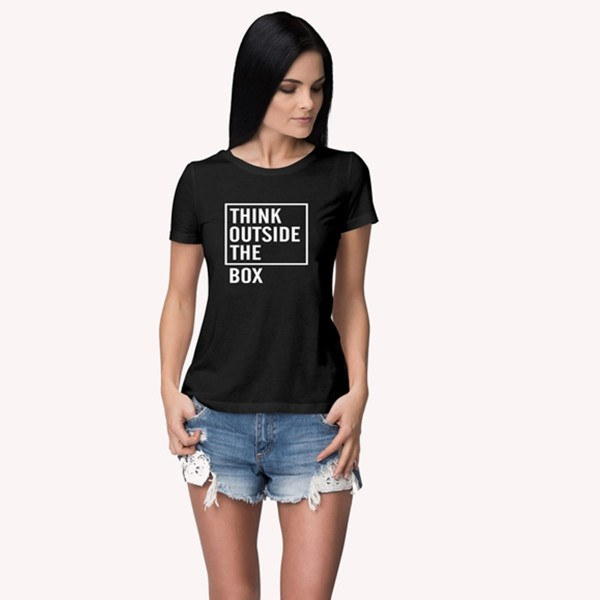 Think outside the box Round neck Tshirt