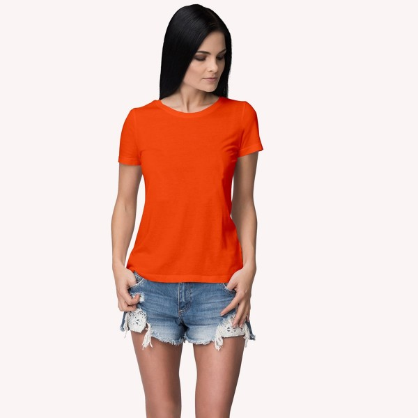 orange Round neck Tshirt