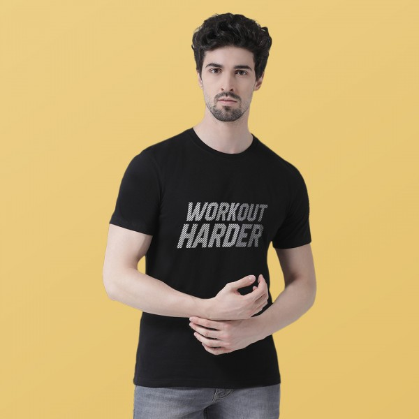 Workout Harder Round neck Tshirt