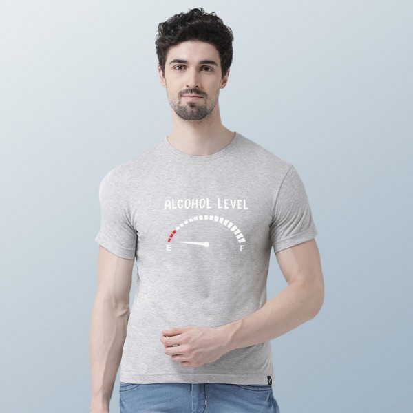 Alcohol Level Round neck Tshirt