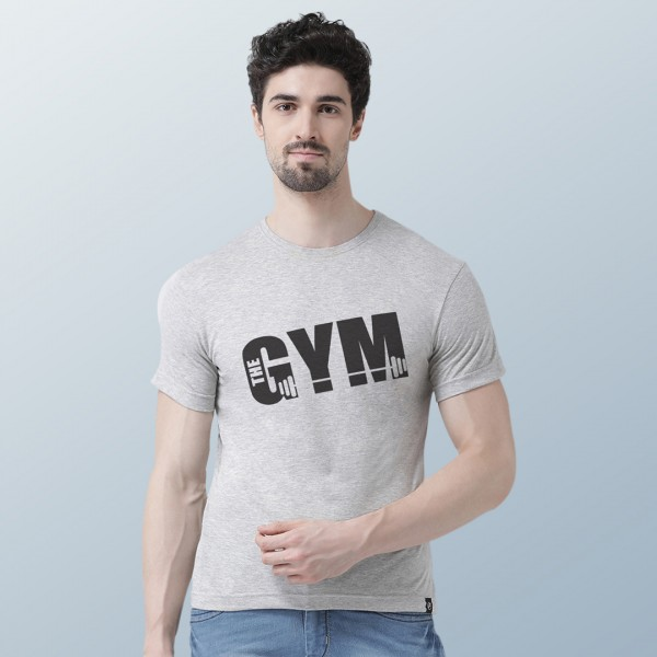 Gym Graphic Round neck Tshir...